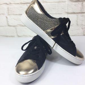 Michael Michael Kors Gold /Black Metallic sneakers